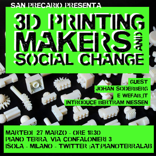 3dprint, makers and social change