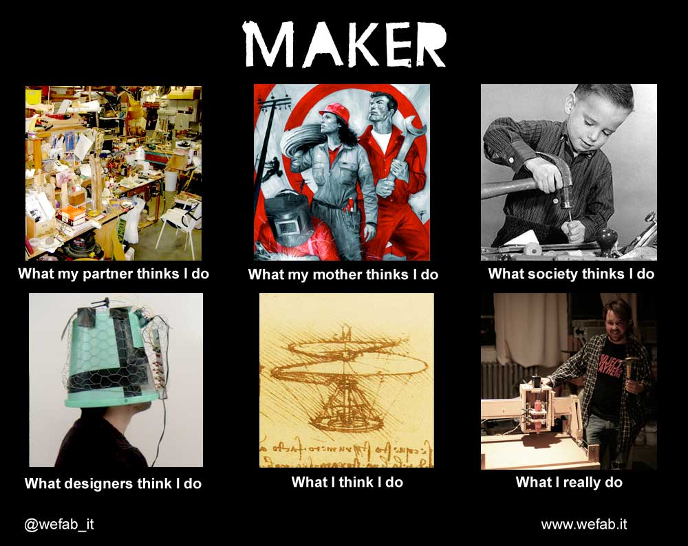 What my friends think I do - Maker